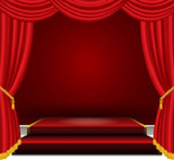 image of red theater curtains